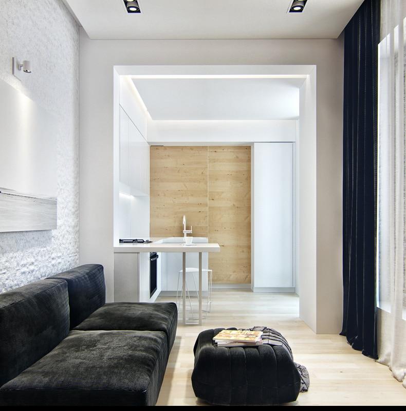 Dise o de peque o apartamento planos y decoraci n for Decorar piso 20m2