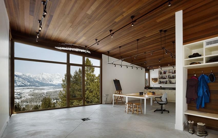 Modern Open Space Natural House Design Dise O De Un Completo Estudio Para Artistas En El Campo Construye