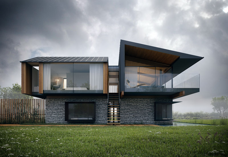 Dise o de casa moderna de 2 pisos y dise o de interiores Contemporary house designs uk