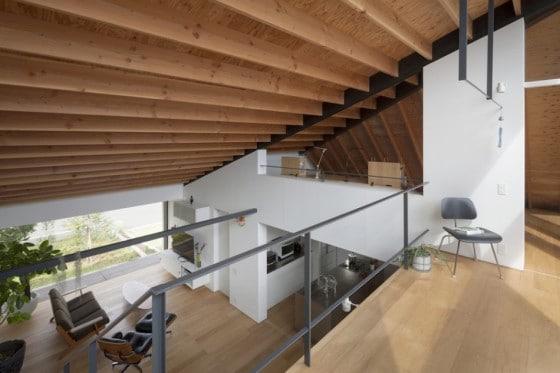 Vista desde el mezzanine de la casa