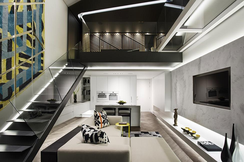 Dise o de minidepartamento moderno interiores elegante - Interiorismo y decoracion moderna ...