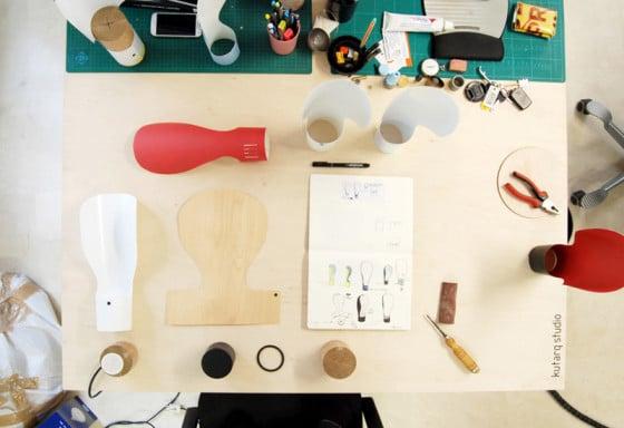 Bricolage hacer lámpara de papel