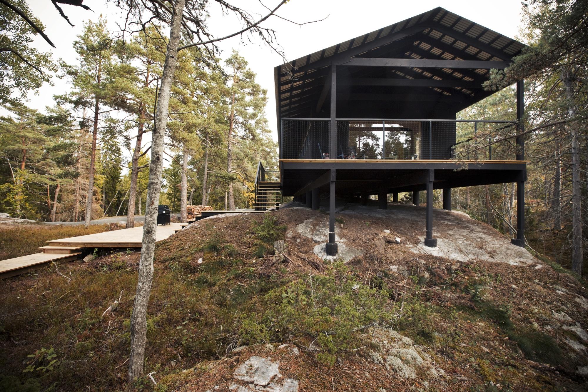 Dise o de casa peque a de madera fachada planos - Casa pequena de madera ...