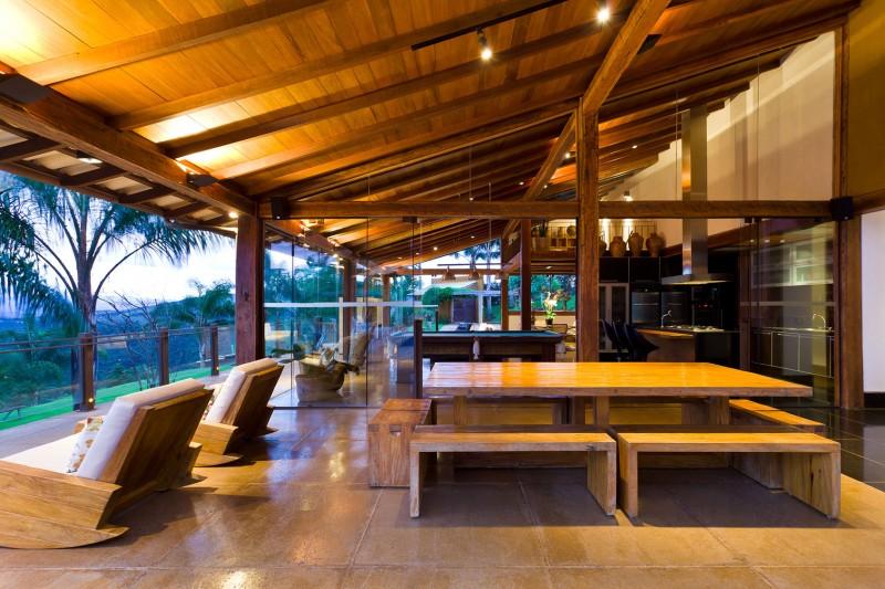 Comedor terraza de casa rural construye hogar - Comedor terraza ...
