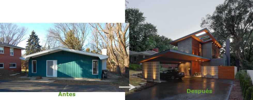 Remodelar casa peque a y antigua para hacerla moderna for Remodelar mi casa