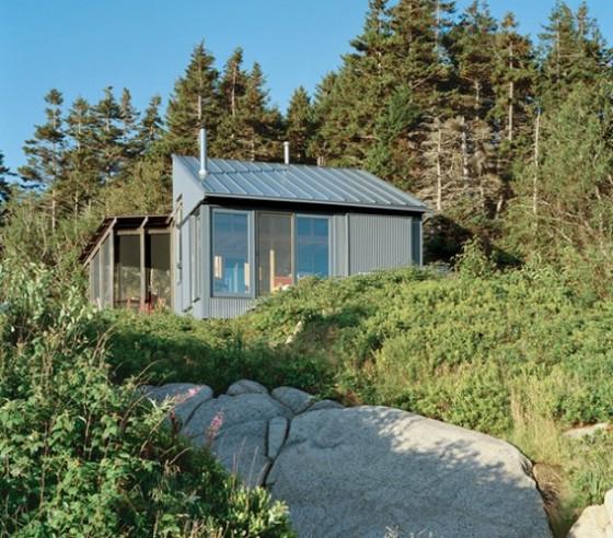 Diseño de casa de campo cubierto  de aluminio