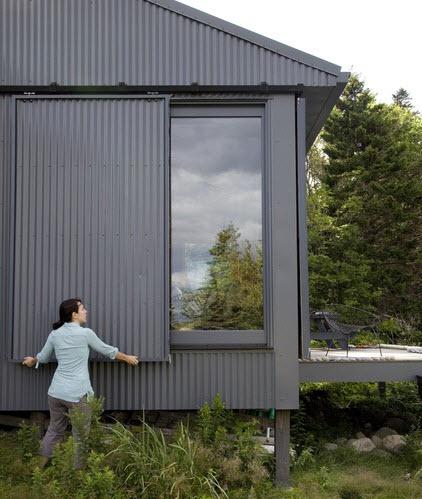 Diseño de casa de campo ventanas