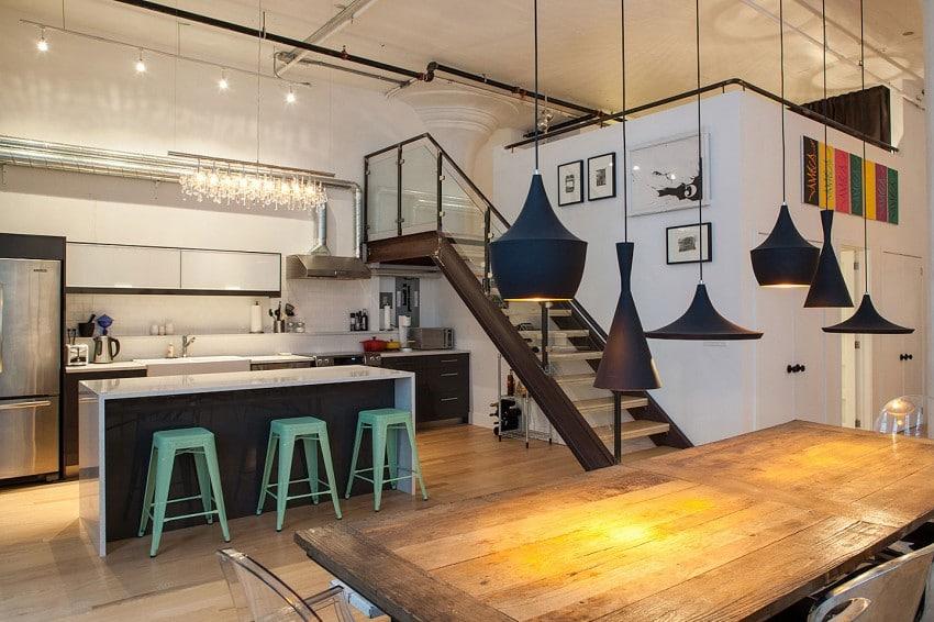 decoracion interiores departamentos rusticos:En el diseño de interiores del apartamento estilo industrial destaca