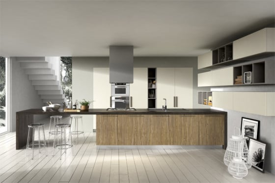 Diseño de cocina moderna grande