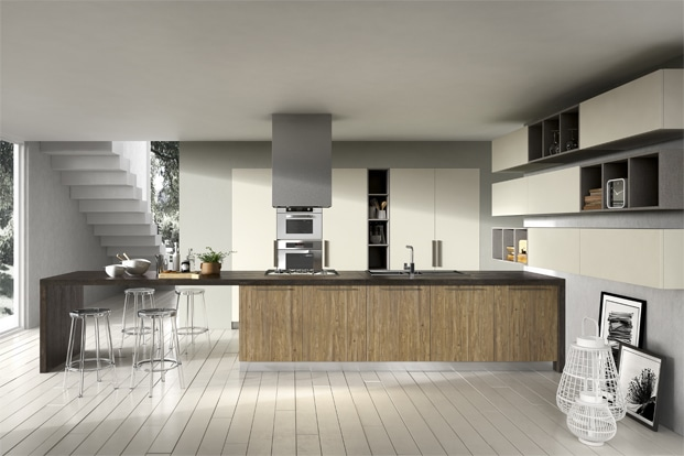 dise o de cocinas modernas modelos simples y elegantes construye hogar. Black Bedroom Furniture Sets. Home Design Ideas