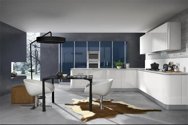 Dise o de cocinas modernas modelos simples y elegantes for Color de pared para muebles blancos