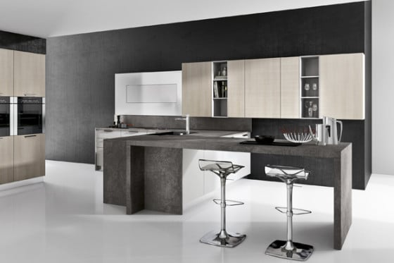 Diseño de cocina moderna para apartamento