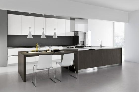 Diseño de cocina moderna simple y elegante