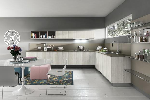 Dise o de cocinas modernas modelos simples y elegantes for Cocinas en color gris claro
