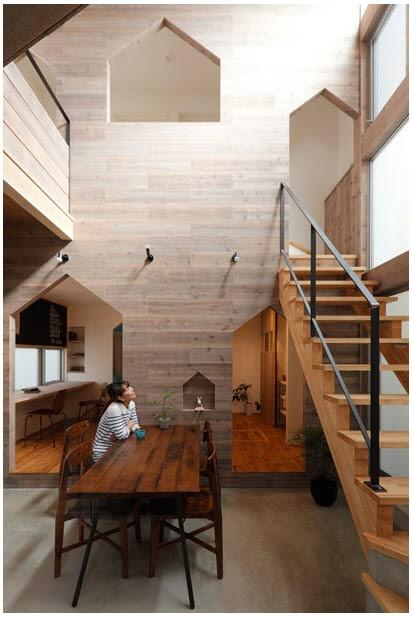 Planos de casa de dos pisos con fachada y diseño interior ...