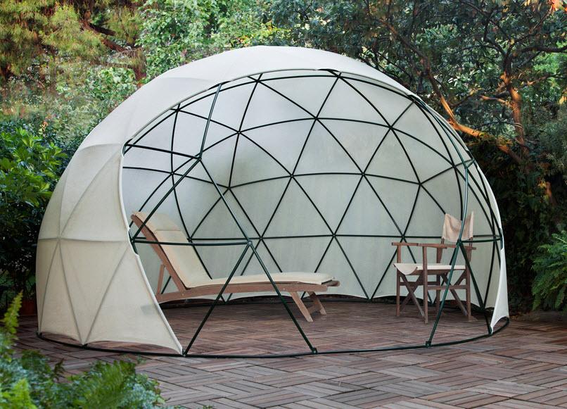 Dise o de domo para terraza o jard n de casas fotos y for Como hacer una sombrilla para jardin