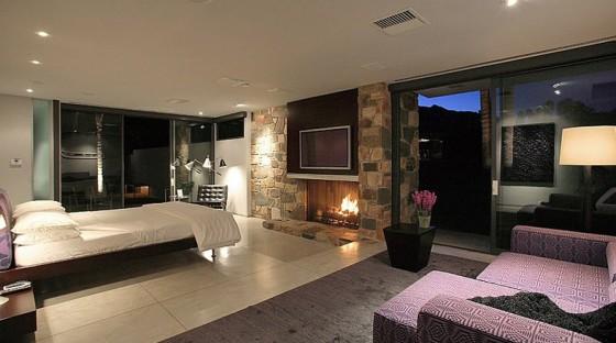Diseño de dormitorio principal de Leonardo DiCaprio