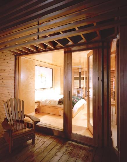 Diseño de dormitorio de madera