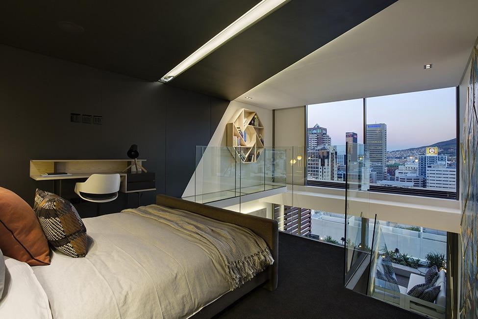 Dise o de minidepartamento moderno interiores elegante - Diseno de interiores dormitorios pequenos ...