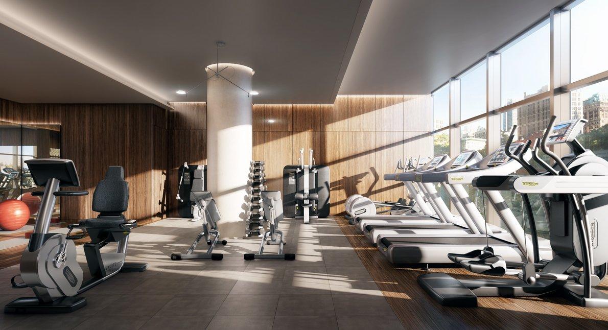 Dise o de gimnasio en apartamento de lujo construye hogar for Gimnasio de
