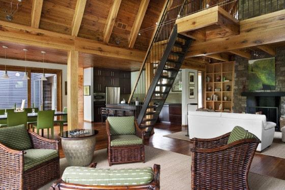 Diseño de interiores de cabaña