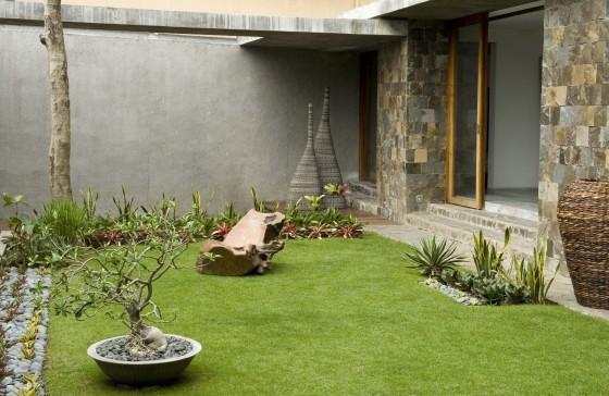 Diseño de jardín rústico