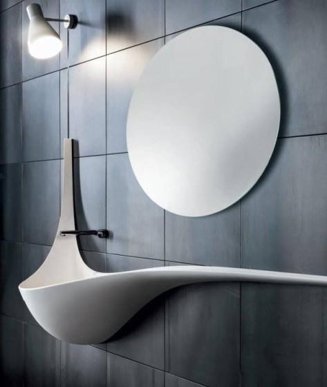 Diseño de lavatorio moderno alargado