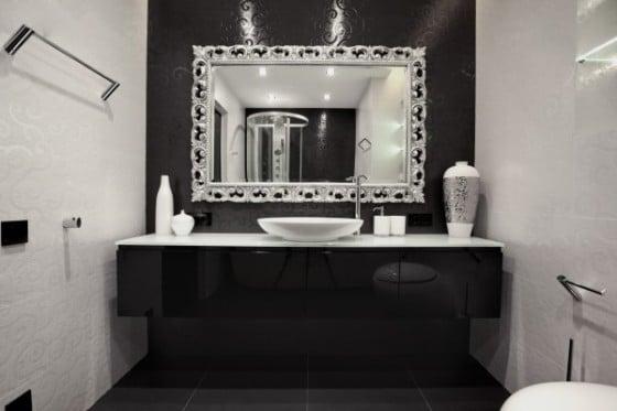 Diseño de lavatorio de cuarto de baño