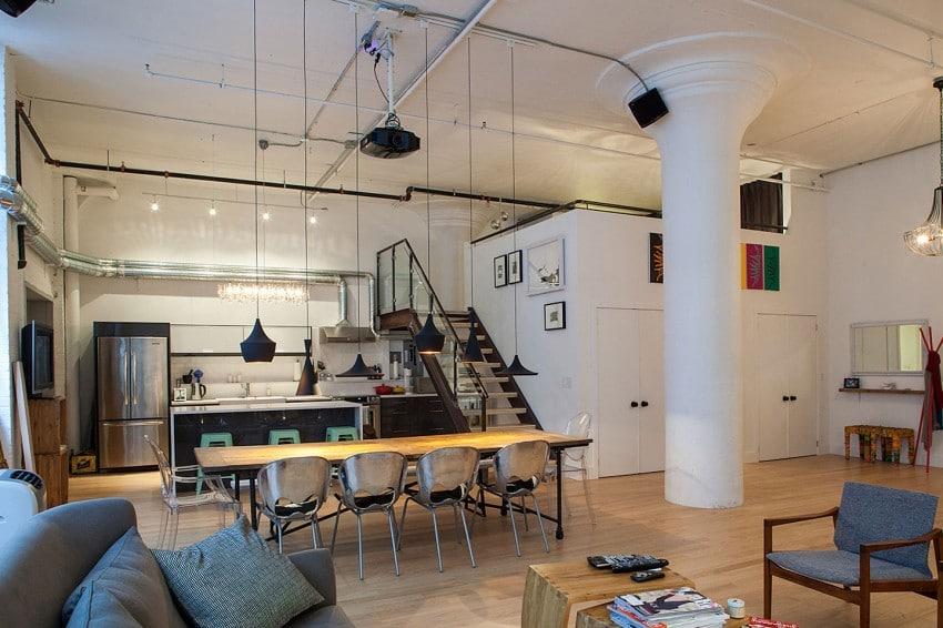 Dise o de loft estilo industrial construye hogar - Loft de diseno ...