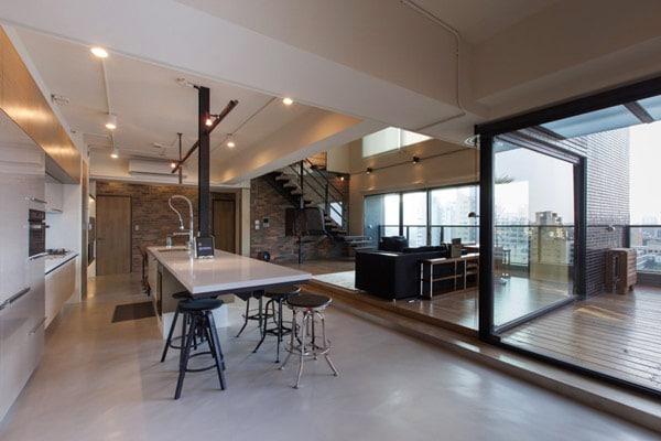 Dise o de apartamento en un almac n loft moderno - Loft de diseno ...