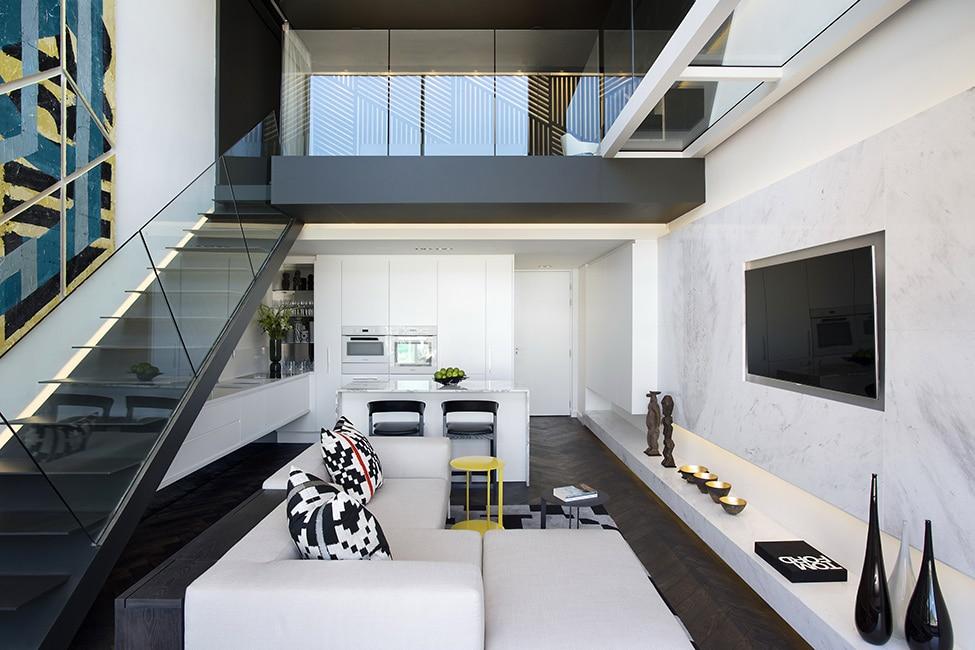 Dise o de minidepartamento moderno interiores elegante for Diseno de interiores para apartamentos pequenos