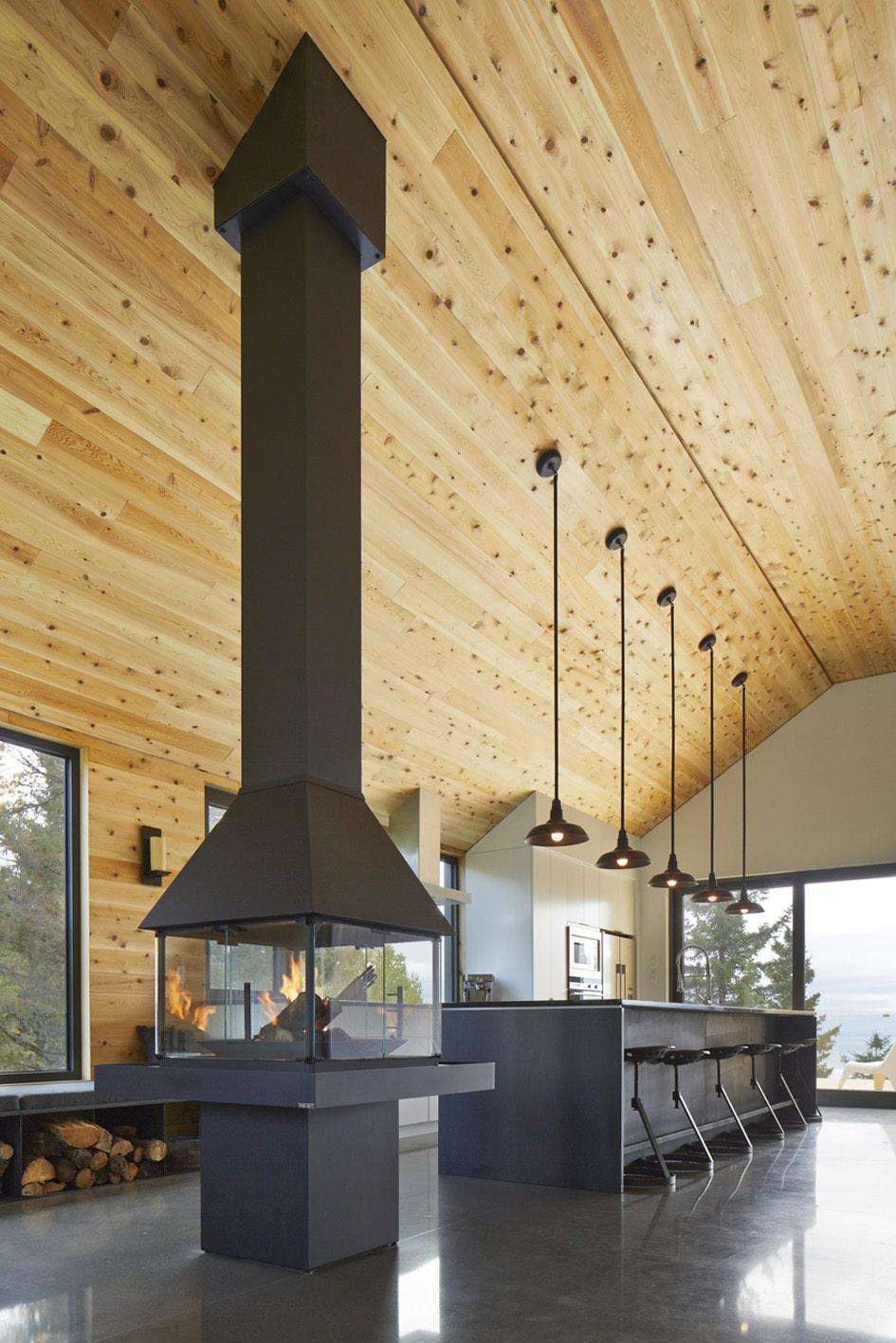 Dise o de casa moderna de dos pisos m s s tano planos - Cocinar en la chimenea ...