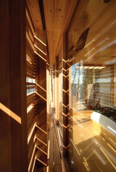 Diseño de muro de casa de madera
