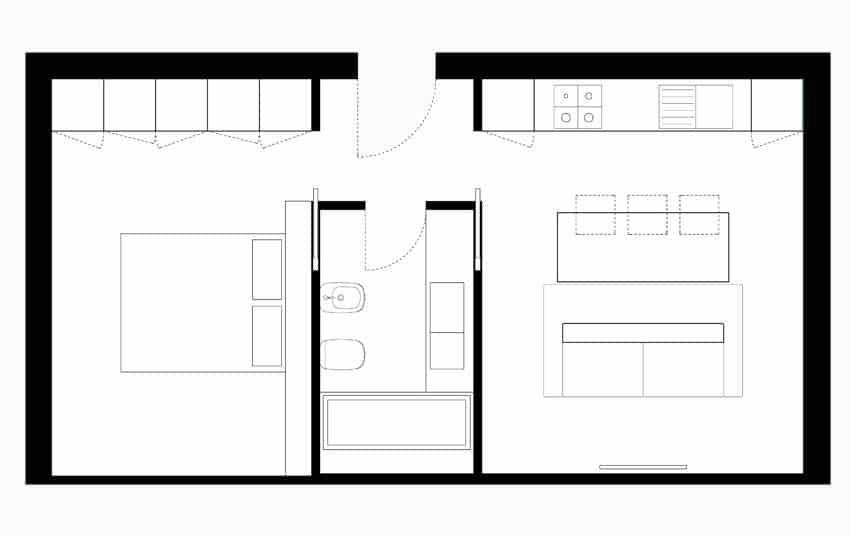 Planos de apartamentos pequeños de uno y dos dormitorios  Construye ...