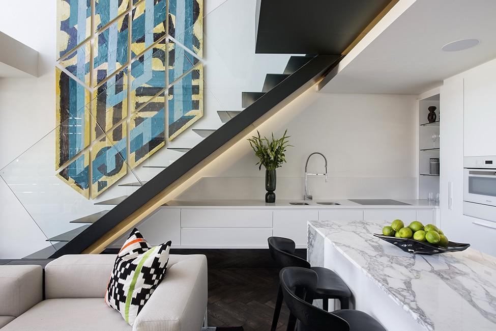 Diseño de minidepartamento moderno, interiores elegante ...
