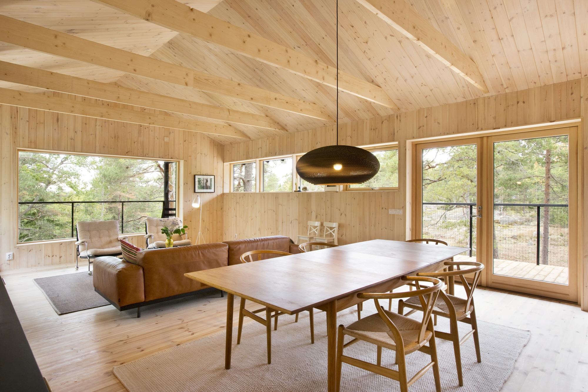 Dise o de casa peque a de madera fachada planos for Casas de madera pequenas
