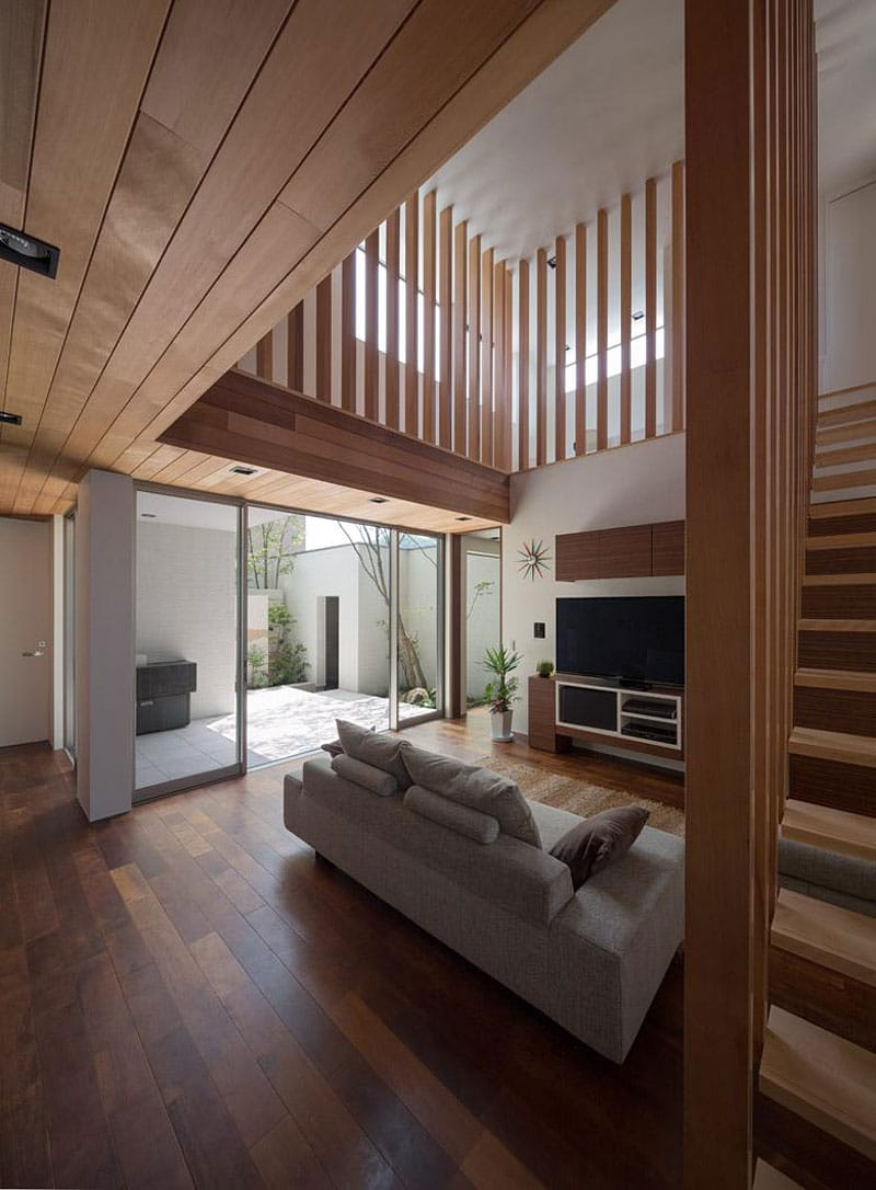 diseo de sala con interior de madera