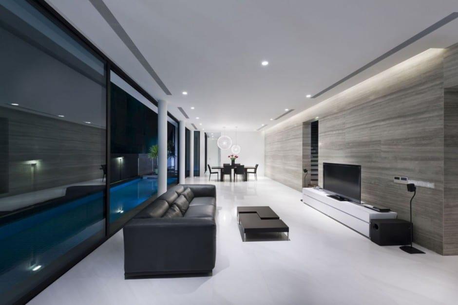 Plano de casa de dos pisos peque a fachada e interiores - Casas modernas interior ...
