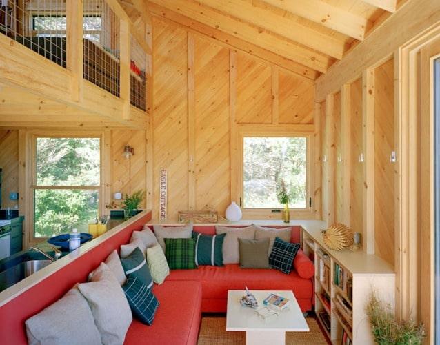 Casa peque a de campo dise o de fachada e interiores for Diseno interior casa pequena