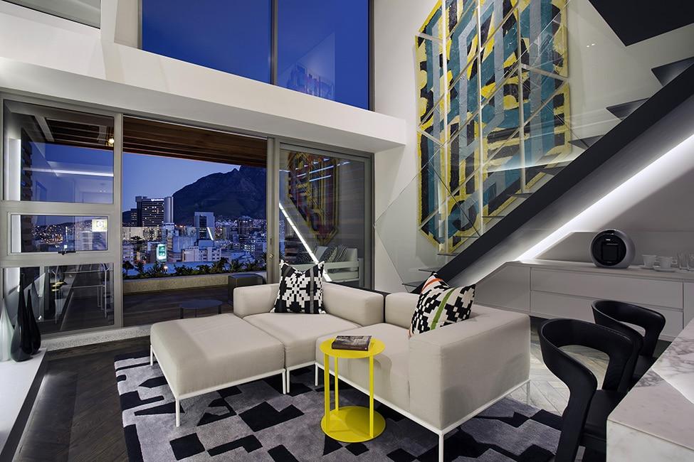 Dise o de minidepartamento moderno interiores elegante for Diseno interiores