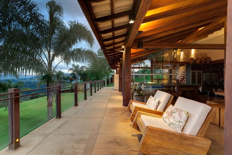 Dise o de casa de campo planos interior y fachadas for Modelo de casa con terraza