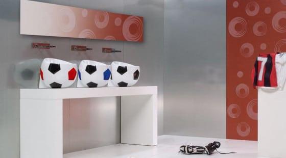 Diseños de tres lavatorios en forma de balón