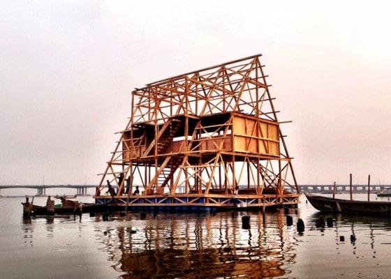 Estructura de casa flotante