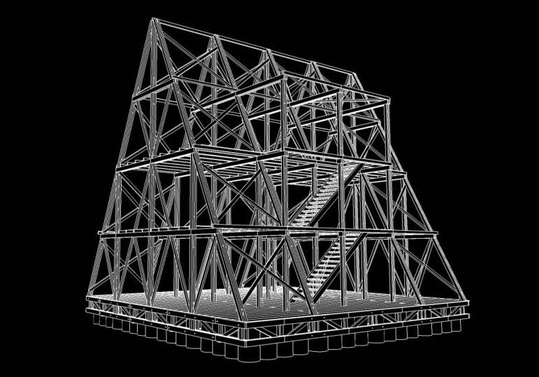 Dise o de casa flotante construir modelo autosustentable - Casas estructura de madera ...