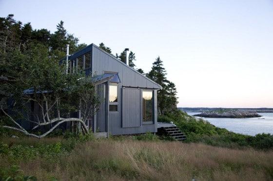 Vista de fachada de casa de campo 2