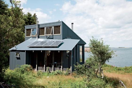 Fachada de pequeña casa de campo 2