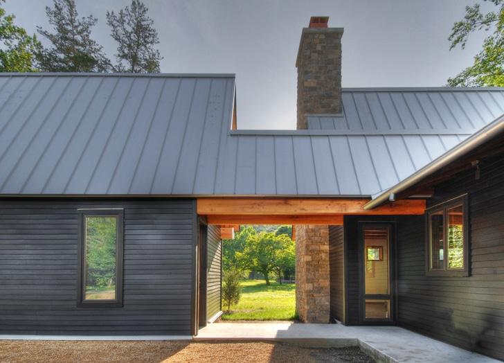 Dise o de casa rural de madera y piedra fachada e - Casas madera y piedra ...
