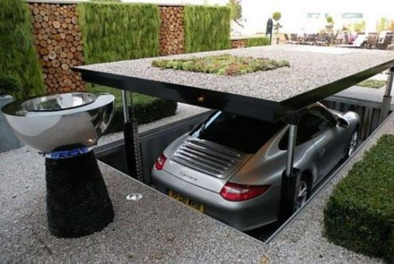 Garaje oculto en casa