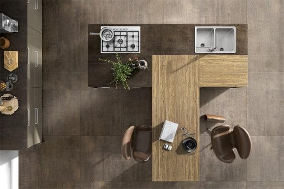 Isla de cocina de madera