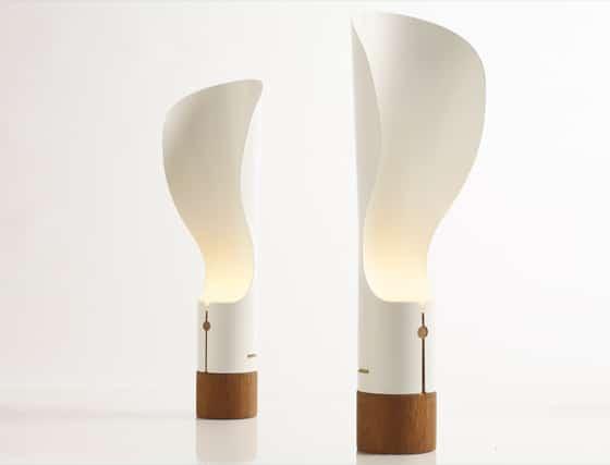 Lámpara moderna de papel